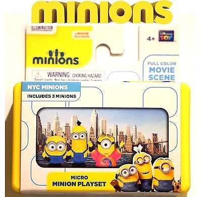 NEW! Minions Movie NYC Minion Micro Figure Themed Playset w Box Bob Kevin Stuart