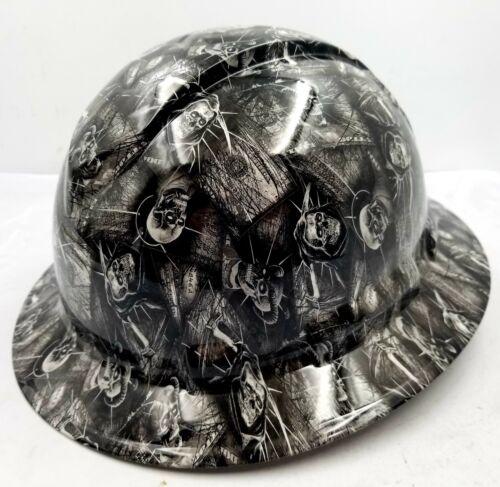Custom Ridgeline WideBrim Hard Hat OSHA Hydro Dipped AMERICAN MONEY DEAD HEADZ 2