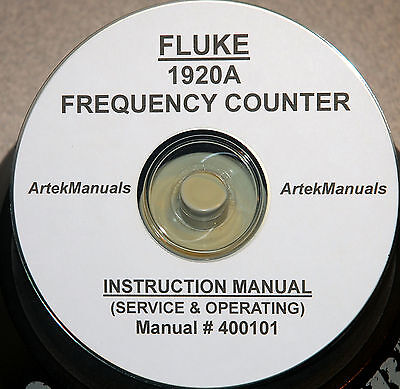 Fluke 1920a Frequency Counter Operating Service Manual