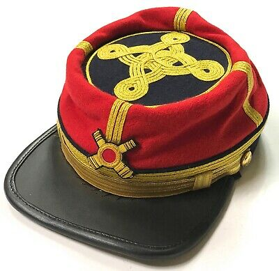 CIVIL WAR CONFEDERATE GENERAL SR. ARTILLERY OFFICER KEPI FORAGE CAP -