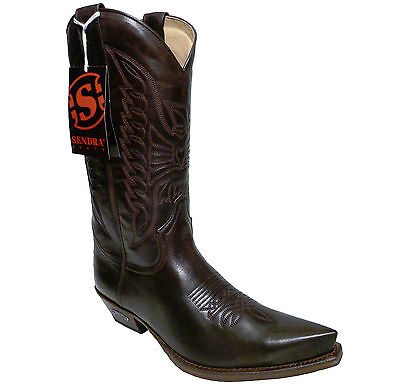 Sendra Boots Style 2073 Brown Leather Western Cowboy Boots | eBay