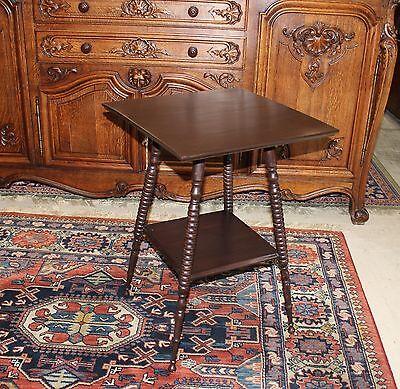 American Antique Bobbin Mahogany Side Table Small Square Table Bedroom Mahogany Side Table
