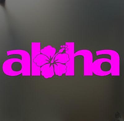 Aloha Gorilla - aloha hibiscus sticker flower hawaii hawaiian Funny JDM race car window decal