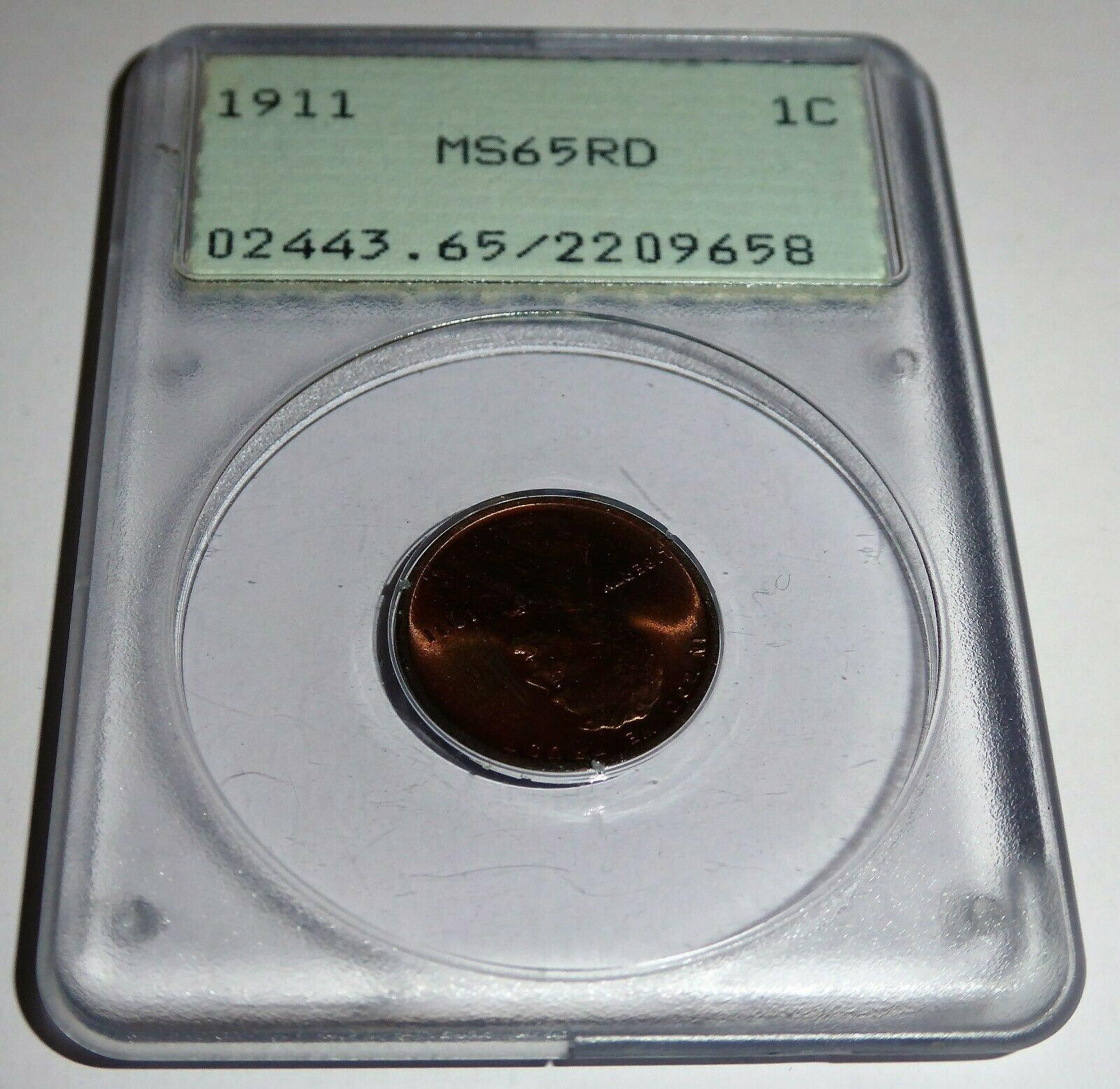 1911 1C PCGS MS65RD Lincoln Wheat Small Cents One Penny Cent Coin 💎