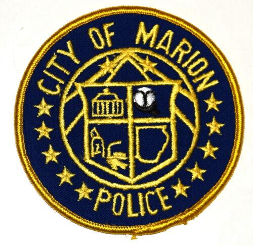 """MARION ARKANSAS AR Police Patch STATE SHAPE OUTLINE 3.5"""" VINTAGE OLD MESH 3.5"""""""
