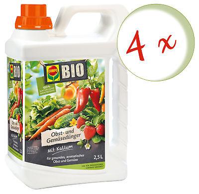 Sparset: 4 X Compo Bio Frutales y Abono Vegetal, 2,5 Litros
