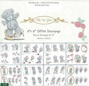 TATTY TEDDY ME TO YOU 8 X 8 DECOUPAGE SAMPLE PACK MOTHERS DAY & GIRLY  8 SHEETS