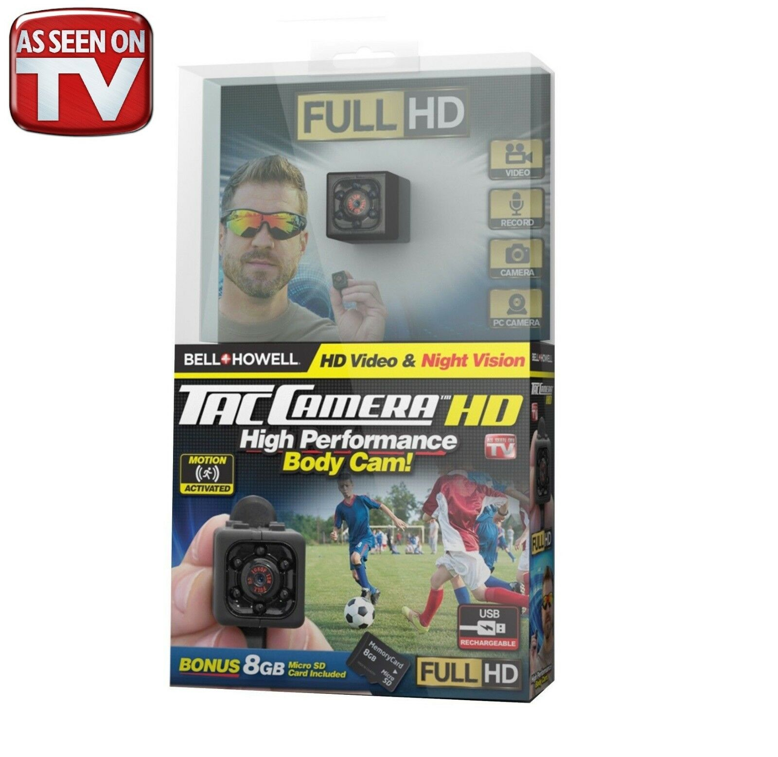 as-seen-on-tv-bell-howell-tac-camera-tiny-hd-body-camera-16gb-sd-card-new