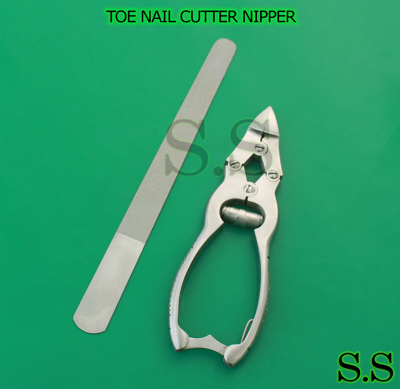 "Toe Nail Cutter Nipper 4 Joints Trimmer + 8"" Diamond Deb ..."