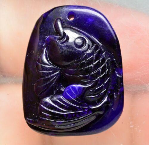 25 Carat Rare Natural Translucent Beautiful Sugilite Carving Precious Pendant