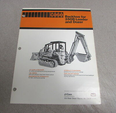 Case 350b Backhoe Loader Dozer Specifications Brochure Manual Ud86079
