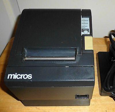 Micros Epson Tm-t88ii Model M129b Pos Thermal Receipt Printer- Idn Port