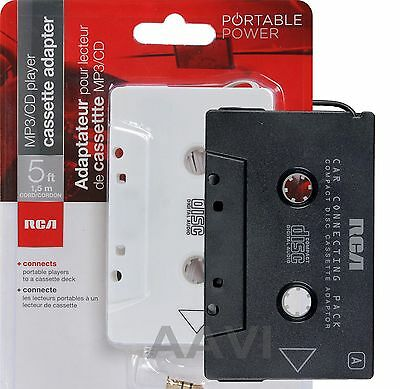 RCA Best Car Auto Deck Cassette Tape Music Adapter for iPod MP3 iPhone Laptop