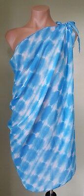 Dotti multi wear sky blue chiffon beach swimsuit Sarong Cover up sarong one size