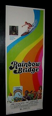 "Orig JIMI HENDRIX RAINBOW BRIDGE Rare Insert 14"" X 36"" ROLLED! NEAR MINT"