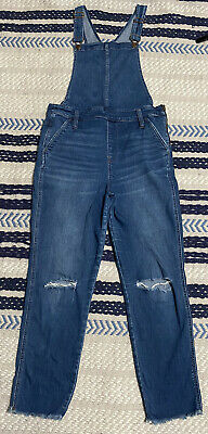 Vintage Overalls & Jumpsuits Madewell Denim Roadtripper Distressed Skinny Overalls Women's Size XL $49.99 AT vintagedancer.com