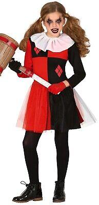 Mädchen Evil Harlekin Unheimlich Halloween Kostüm Kleid Outfit 5-12 - Unheimliche Kostüm Mädchen