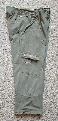 Womens Columbia Titanium Hiking Outdoor Travel Roll Up Cropped Pants SZ 14