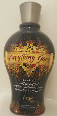 Bronzer Indoor Tanning Lotion (ANYTHING GOES 100XXX Dark Bronzer Indoor Tanning Bed Lotion by Devoted Creations)