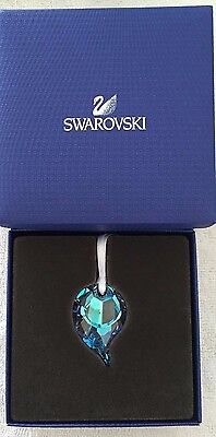 Swarovski Crystal Christmas SCS PEACOCK FEATHER ORNAMENT 5160328 New In Box