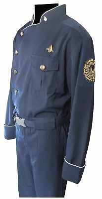 Battlestar Galactica Costumes (BATTLESTAR GALACTICA BSG OFFICER DUTY BLUES JUNIOR UNIFORM)