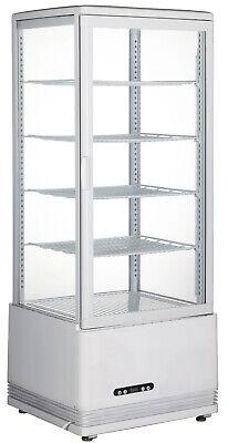 Techtongda Cake Display Case Glass Refrigerated Cake Display Cabinet White