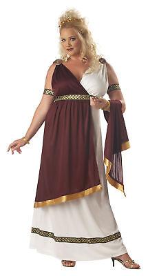 Plus Size Women's Halloween Roman Empress Costume Queen Athenian Dress Set - Roman Empress Costume