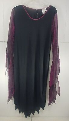Black & Purple Goth Vampire Bride Dress  Halloween Costume One Size Fits Most T3 - Mostly Black Halloween Costume