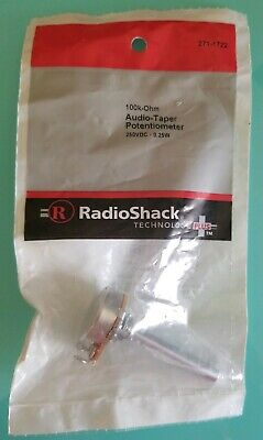 New Radioshack 100k Ohm Audio-taper Potentiometer 2711722 Free Shipping