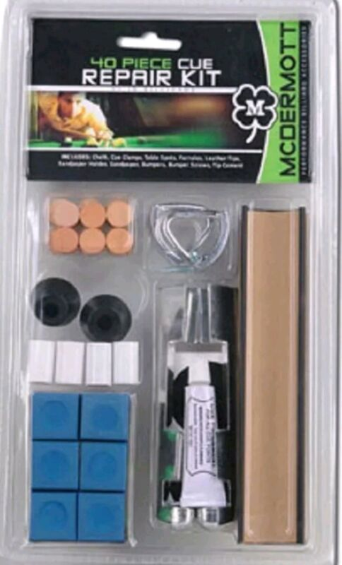 FREE SAME DAY SHIPPING, 40 Piece Pool Cue Tip Repair Kit, McDermott Cue,IN STOCK