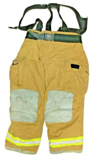 42x30 Globe Gxtreme Brown Firefighter Turnout Pants With Suspenders P1248