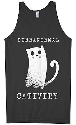 Purranormal Cativity Ghost Cat Men's Tank Top Halloween