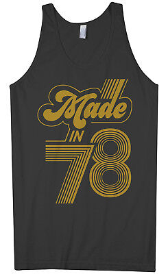 Made In 1978 Men's Tank Top 40th Birthday Party Gift Idea 78