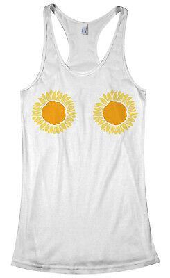 Sunflower Themed Party (Sunflower Bikini Women's Racerback Tank Top Outdoor Wedding Party)
