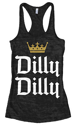 Dilly Dilly Womens Burnout Racerback Tank Funny Beer Commercial Pit of Misery