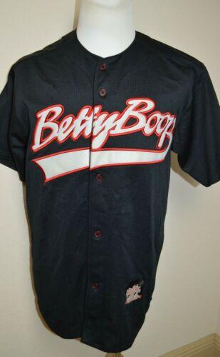 Vintage 2000 Betty Boop Black Embroidered Baseball Jersey Medium Cartoon