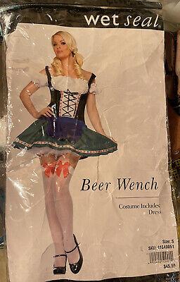 New Beer Wench Girl Oktoberfest Halloween Sexy Adult Costume S
