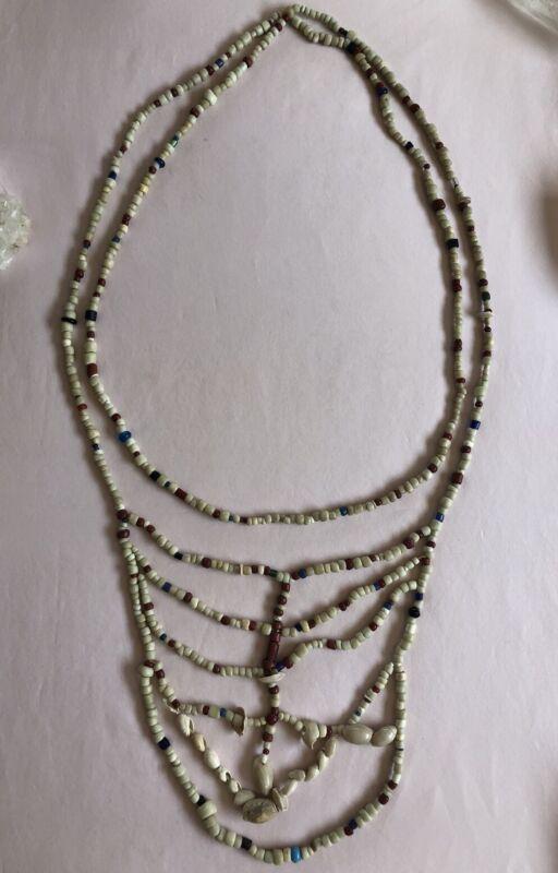 ❤️MUSEUM❤️ 1700's Native American Cornaline d'Aleppo Beads Breast Plate Necklace