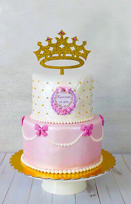 Princess Crown Cake Topper, Girl Birthday Queen, First Birthday, It's a Girl  - A Princess Crown