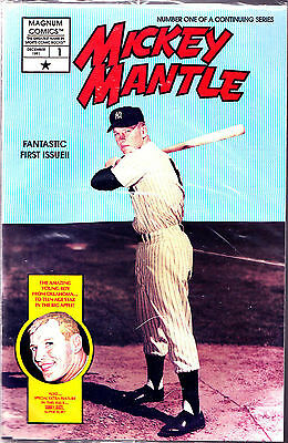 #1 vol 1 Mickey Mantle comic factory bagged w/ cards
