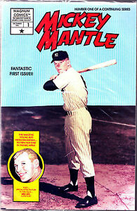 1-vol-1-Mickey-Mantle-comic-factory-bagged-w-cards