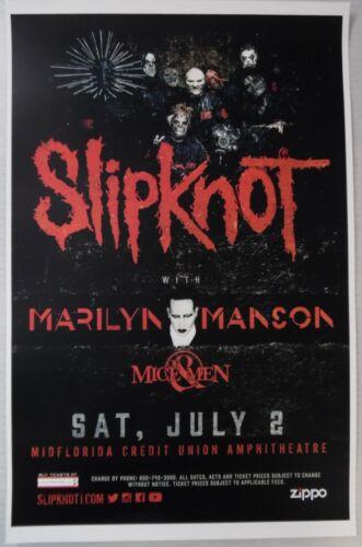 Slipknot w/ Marilyn Manson [Concert Poster] 11 x 17 #