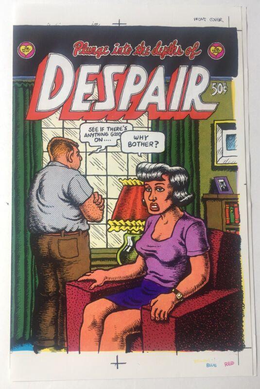 1969 Despair 1st print  Untrimmed Cover Proof  Robert Crumb