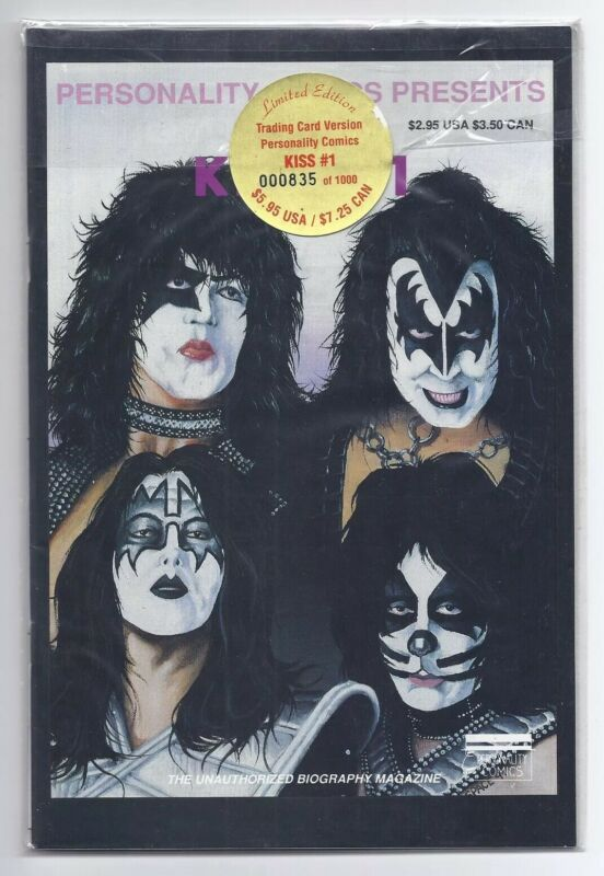 Personality Comics KISS #1 Trading Card Version LE Variant 835 Of 1000 Biography