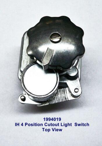 Farmall / IH New 4 Position Cutout Light Switch fits Cub, A, B, C, H, 57310DX,