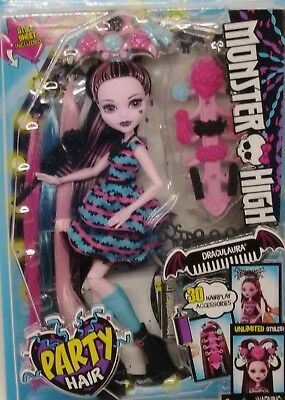 Monster High Doll Party Hair Draculaura Doll Christmas Gift New