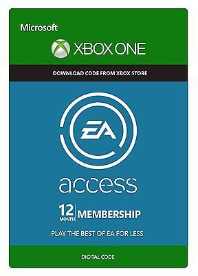 12 month Xbox One/360 EA Access Membership Digital Codes Fast Delivery Live