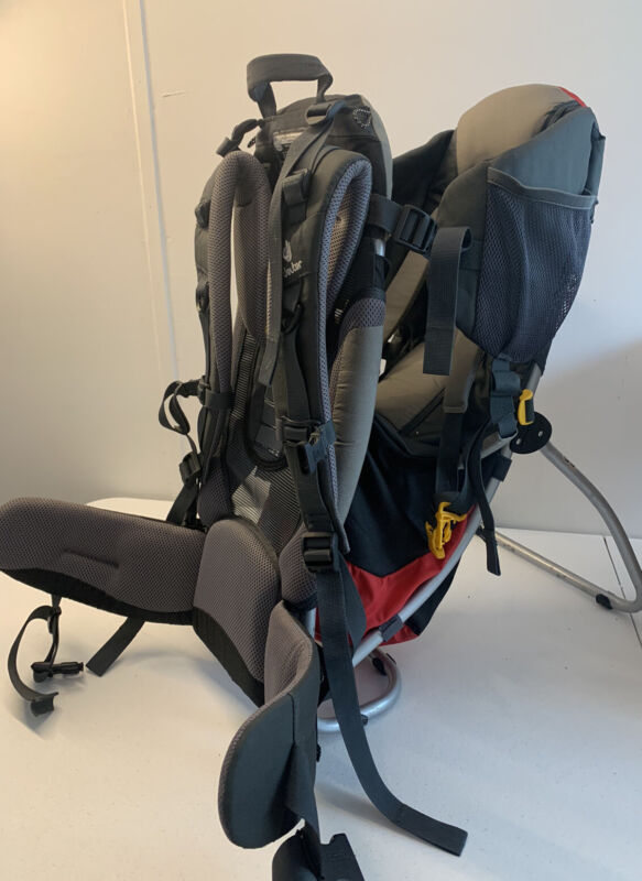 Deuter kid carrier backpack, kid comfort 1 Red Gray