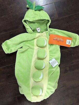 New Baby PeaPod Halloween Costume Green Bean Pea in a pod Sz 0-6 - Green Bean Costume