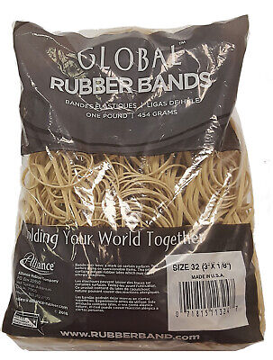 Bulk Rubber Bands Size 32 3 X 18 - 1 Pounds Bag - Approx 700 Rubber Bands